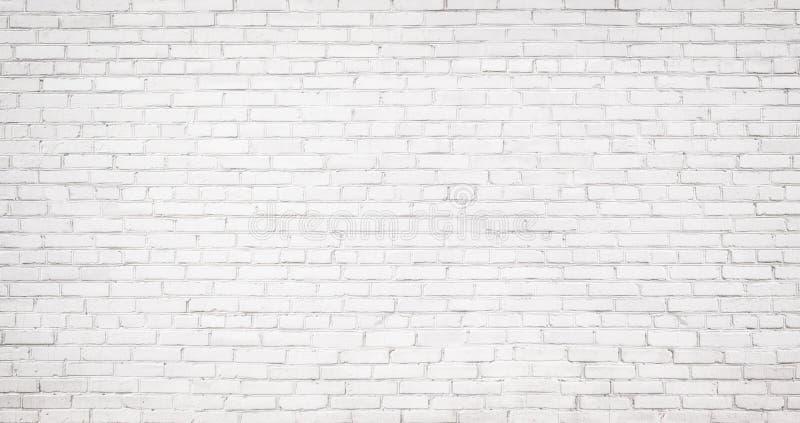Vieux fond blanc de mur de briques, texture de vintage de brickw léger image libre de droits