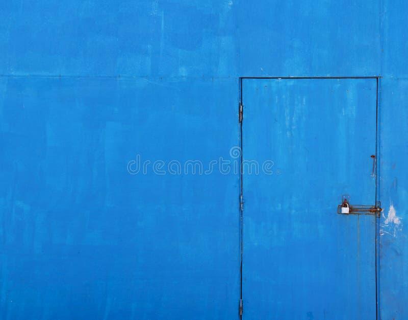Vieux fond bleu de trappe photo stock