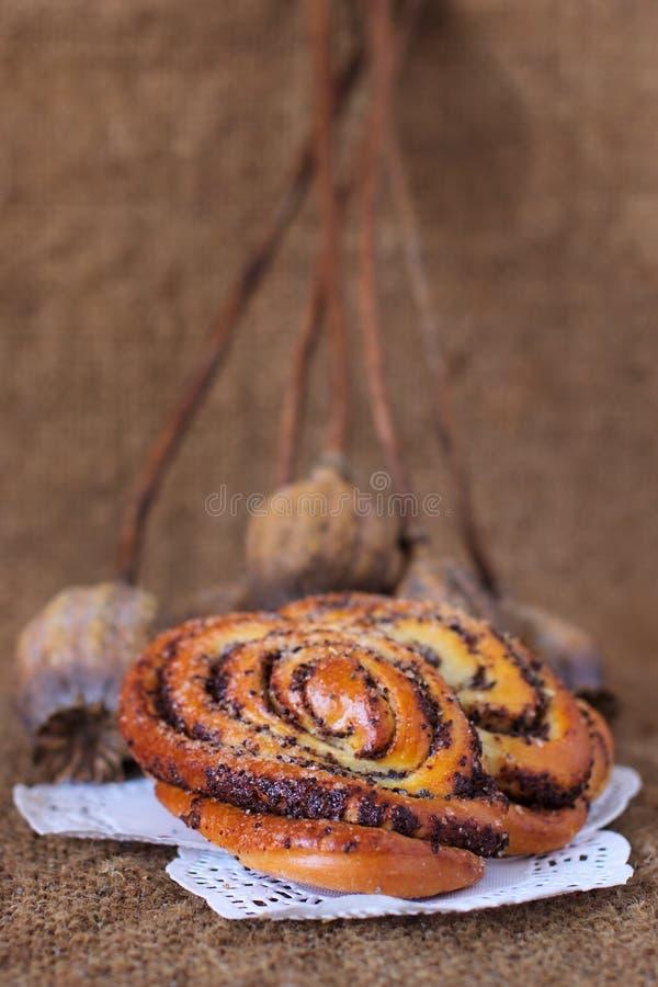 Vieux fond d'art de sac à pains doux de pavot image stock