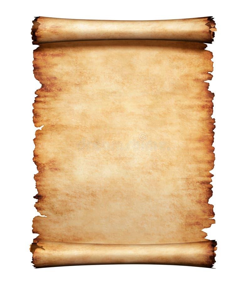 Vieux fond de lettre de papier parcheminé illustration de vecteur