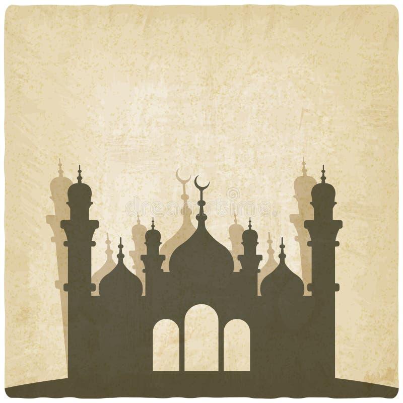 Vieux fond de mosquée islamique illustration stock