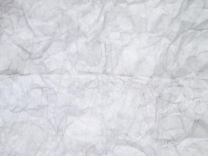 Vieux fond de papier chiffonné fait main blanc de texture photographie stock libre de droits