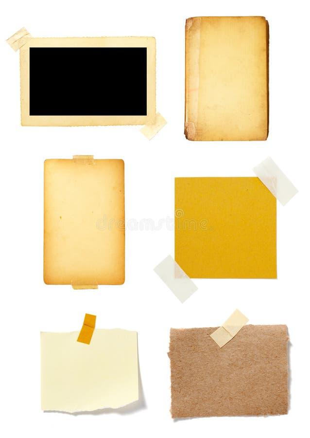 Vieux fond de papier de note de Brown photos stock
