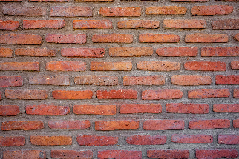 Vieux fond de texture de mur de briques de vintage rouge photographie stock