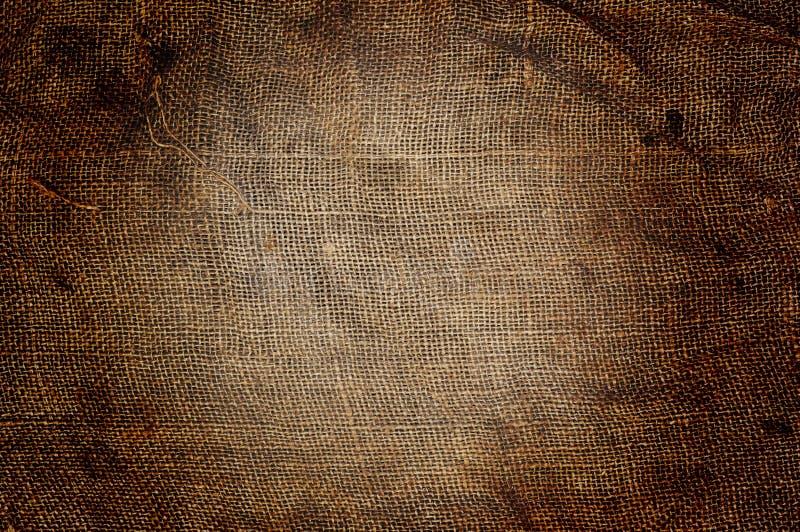 Vieux fond de tissu de sac photographie stock libre de droits