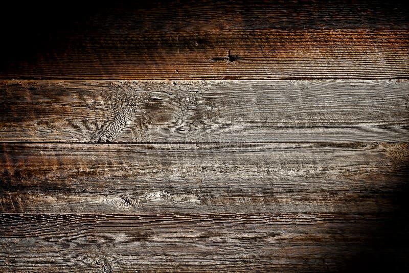 Vieux fond en bois affligé de grunge de planche de panneau photo stock