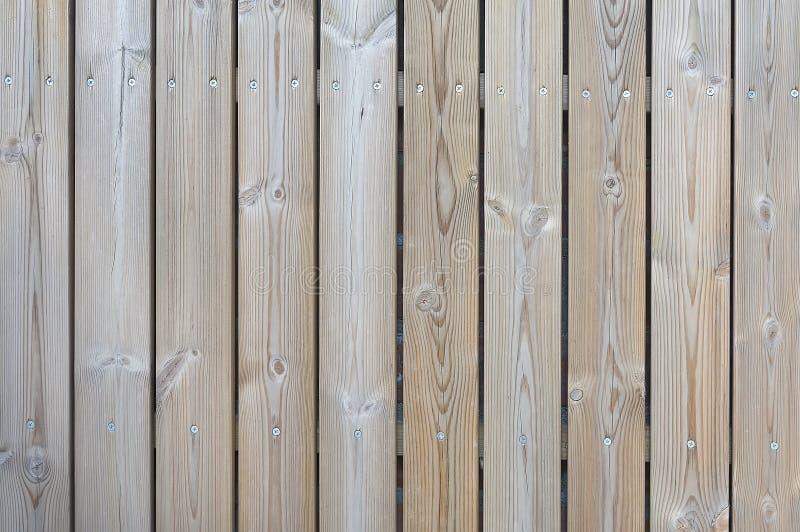 Vieux fond en bois brun clair de barrière images libres de droits