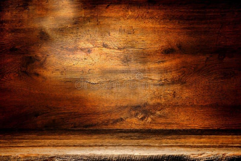 Vieux fond en bois de grunge de panneau de planche et d'antiquité photographie stock libre de droits