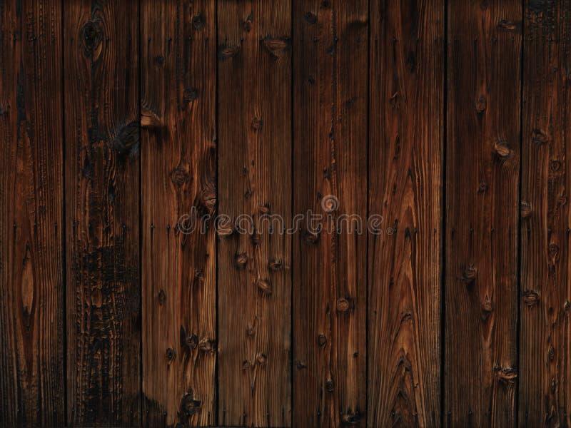 Vieux fond en bois foncé de texture images libres de droits