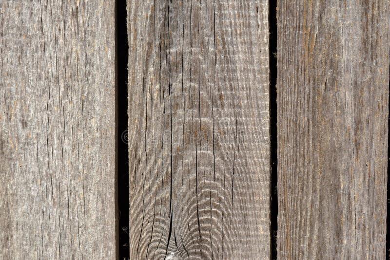 Vieux fond en bois gris de parquet avec des fissures photographie stock libre de droits