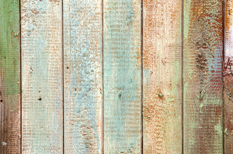 Vieux fond en bois naturel coloré différent de vintage photographie stock libre de droits