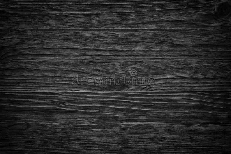 Vieux fond en bois noir Tableau noir texture en bois sombre image stock