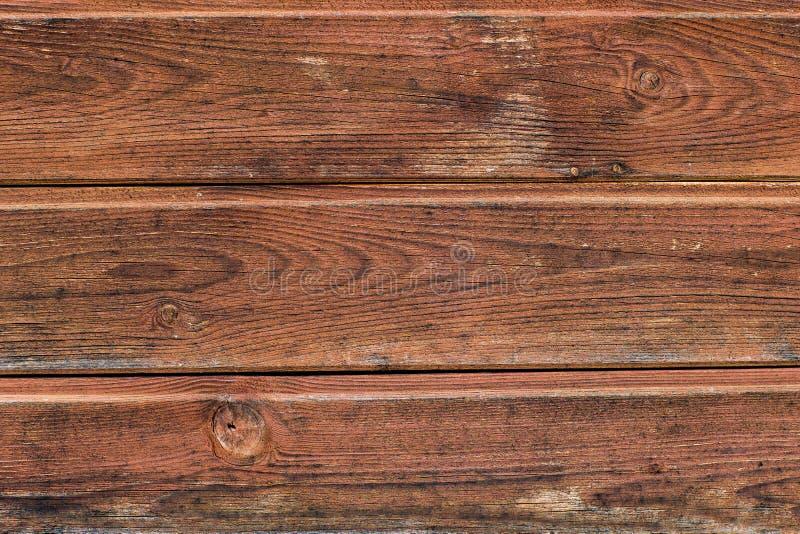 Vieux fond en bois peint Planches en bois superficielles par les agents et minables peintes dans la couleur brune images libres de droits