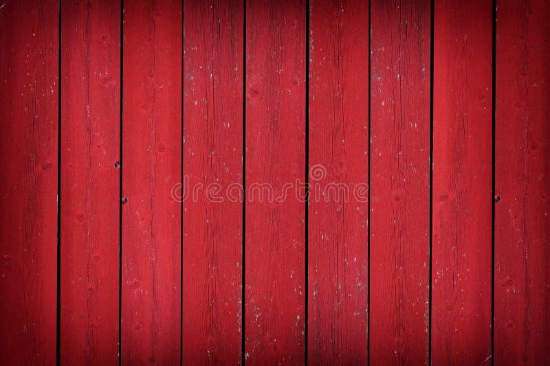Vieux fond en bois rouge rustique de planche avec la vignette photo libre de droits