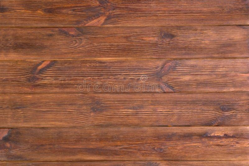 Vieux fond en bois rustique brun superficiel par les agents de planches Dessus de Tableau image stock