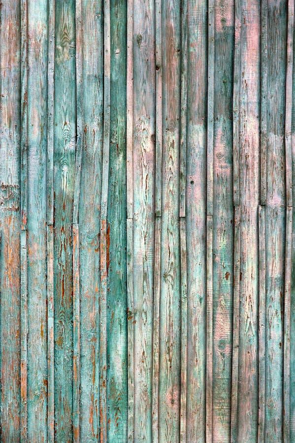 Vieux fond en bois rustique de planche Fond bleu et vert de texture de cru Mod?le en bois grunge bleu de mur En bois bleu photo libre de droits