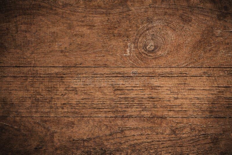Vieux fond en bois texturisé foncé grunge, la surface de la vieille texture en bois brune, panneautage en bois de teck de brun de images libres de droits
