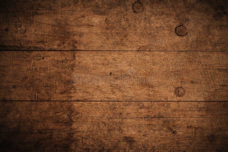 Vieux fond en bois texturis? fonc? grunge, la surface de la vieille texture en bois brune, panneautage en bois de brun de vue sup images libres de droits