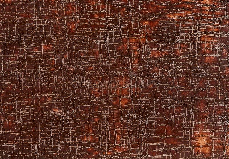 Vieux fond en cuir brun grunge de texture, macro, foyer sélectif photos libres de droits