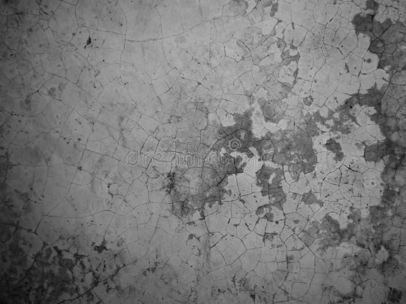 Vieux fond et texture cassés de ciment noirs et blancs images stock