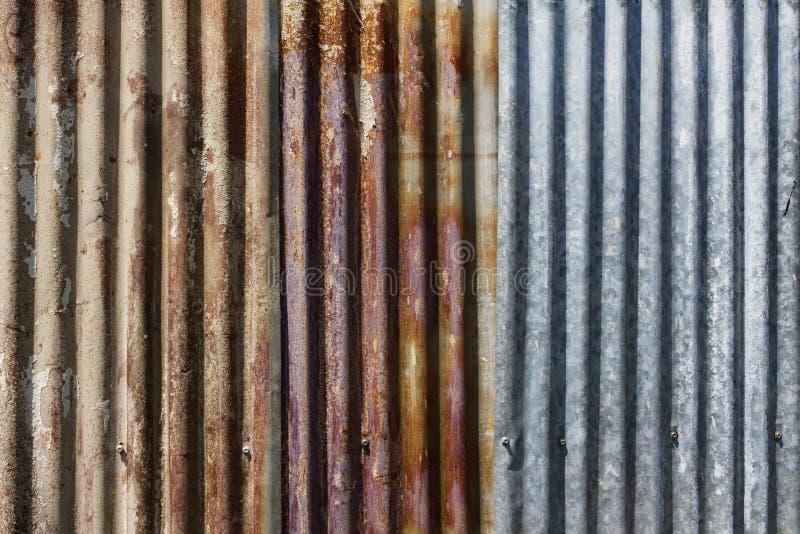 Vieux fond galvanisé rouillé de texture de plat de fer Zinc grunge image libre de droits