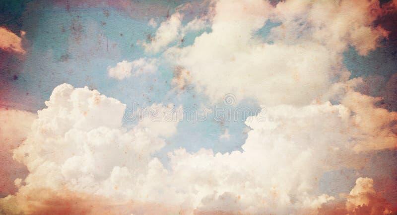Vieux fond grunge de papier de nuage. images libres de droits