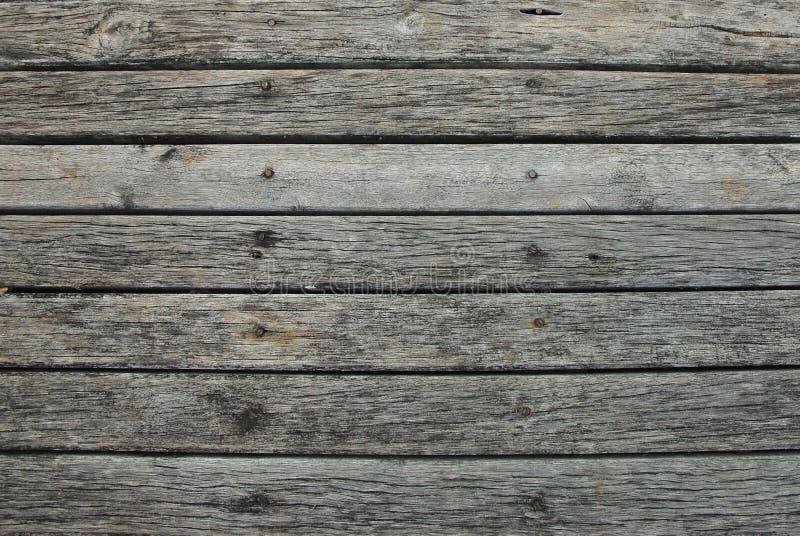 Vieux fond horizontal en bois de texture de cru de planche avec l'espace de copie images libres de droits