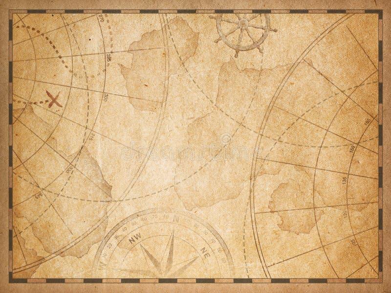Vieux fond nautique de carte illustration stock
