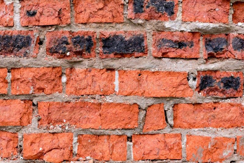 Vieux fond rouge de mur de briques photographie stock