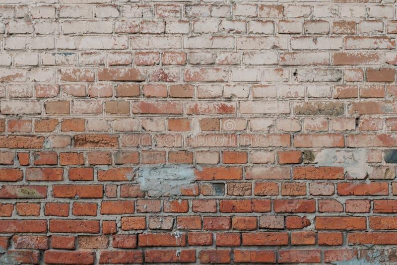 Vieux fond rouge de mur de briques Modèle d'abrégé sur cru de vieilles briques rouges Fond concret grunge de ciment Texture de ci photographie stock