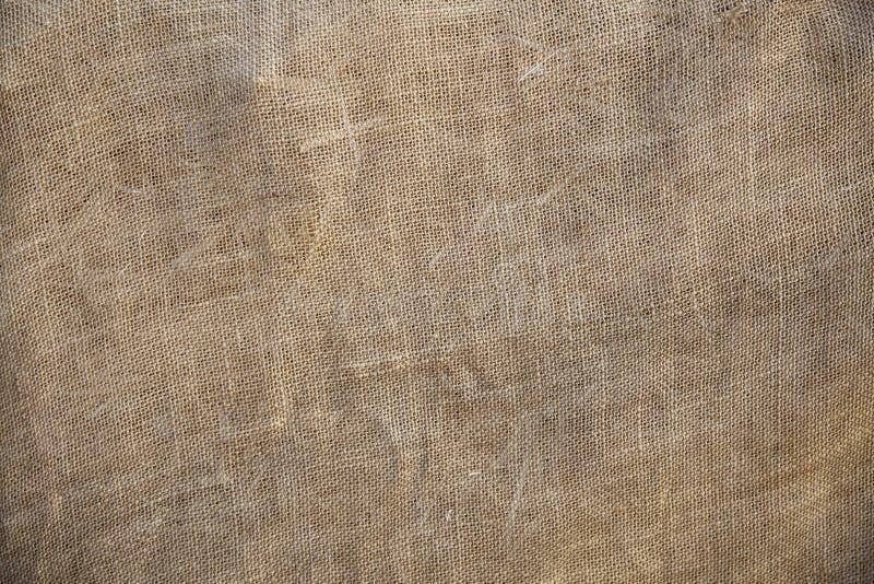 Vieux fond rustique de texture de toile de jute de tissu photo stock