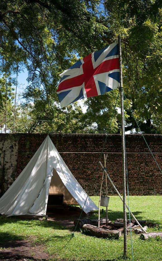 Vieux fort britannique photographie stock