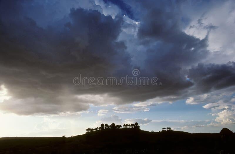Vieux fort dans le désert dans Jaisalmer photos stock