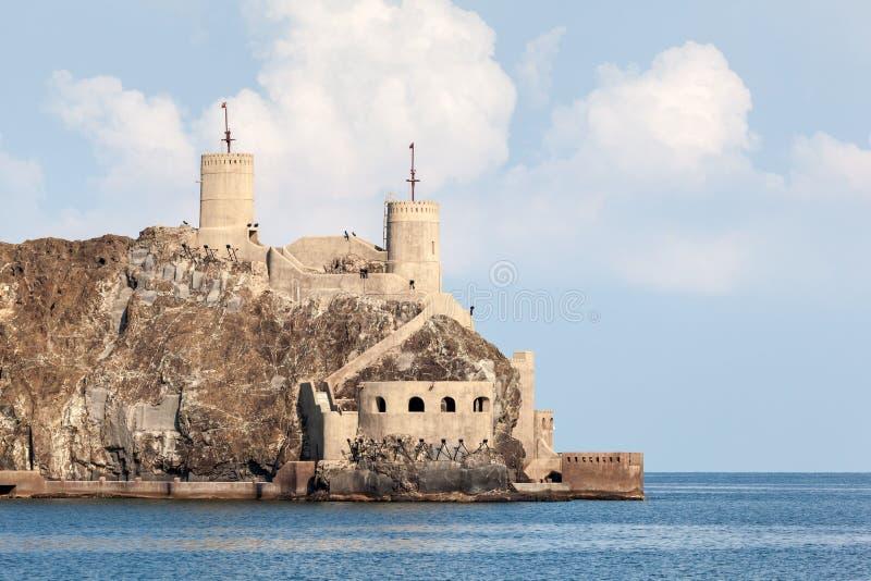 Vieux fort dans Muscat, Oman photographie stock