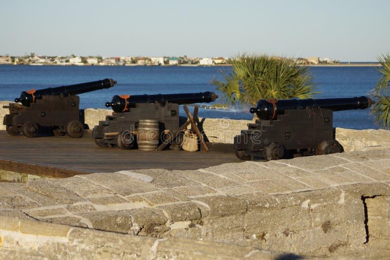 Vieux fort de canons photos libres de droits