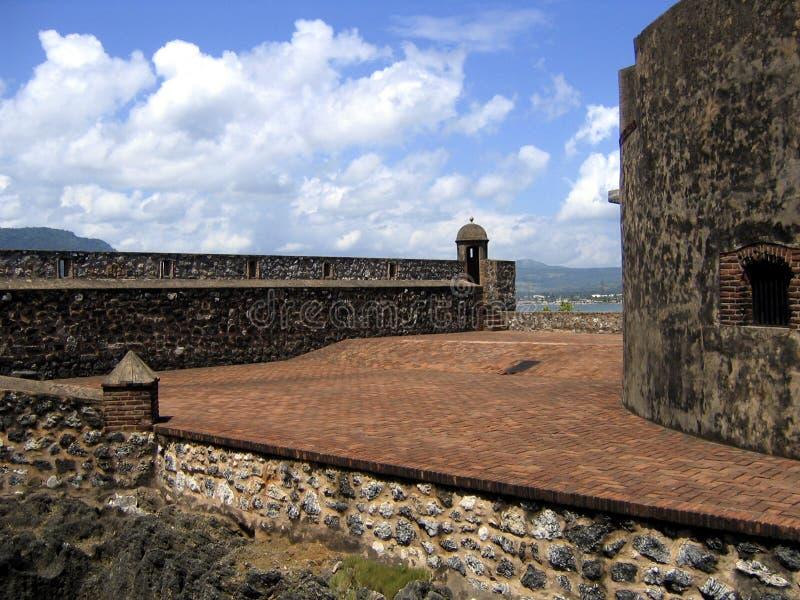 Vieux fort des Caraïbes photographie stock libre de droits
