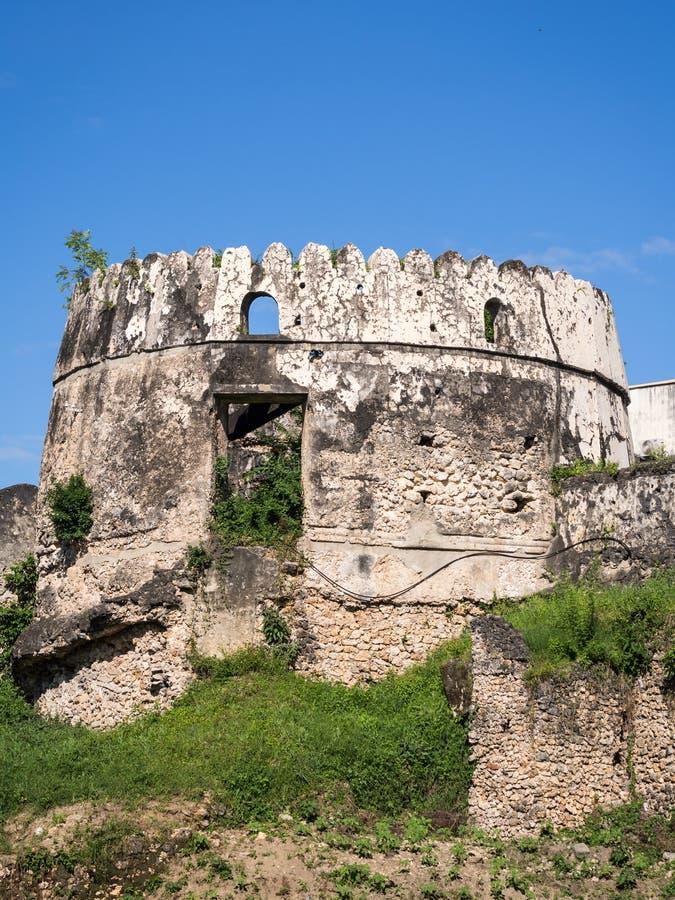 Vieux fort (Ngome Kongwe) dans la ville en pierre, Zanzibar photographie stock