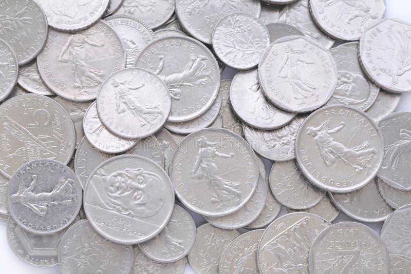 Vieux franc français de pièce de monnaie image libre de droits