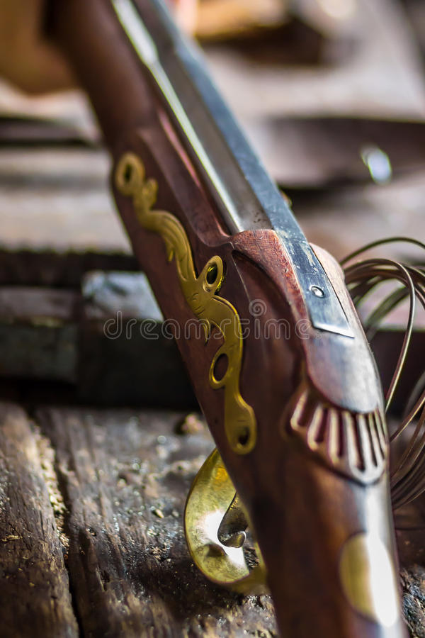 Vieux fusil colonial anglais photographie stock libre de droits