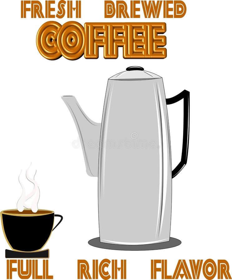 Vieux générateur de café illustration libre de droits