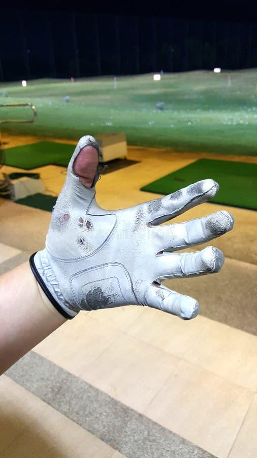 Vieux gant de golf photographie stock libre de droits