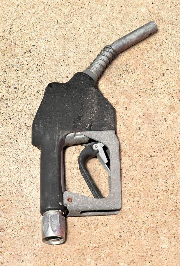 Vieux gicleur de pompe d'essence image libre de droits