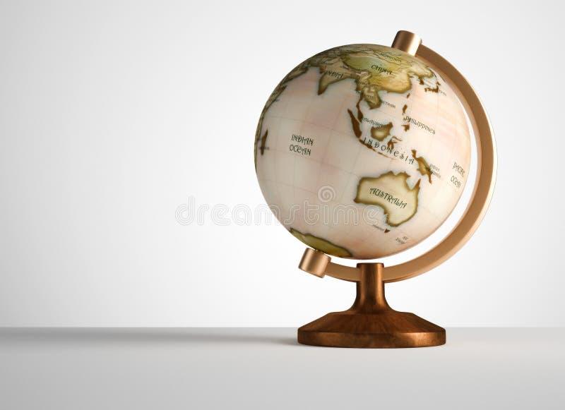 Vieux globe illustration de vecteur