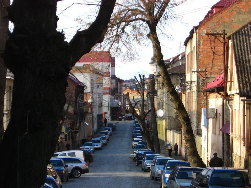 Vieux gorod Architecture de Krasivaya Biznes Goroda de région de Delovoy Podkarpatskaya Russie image stock