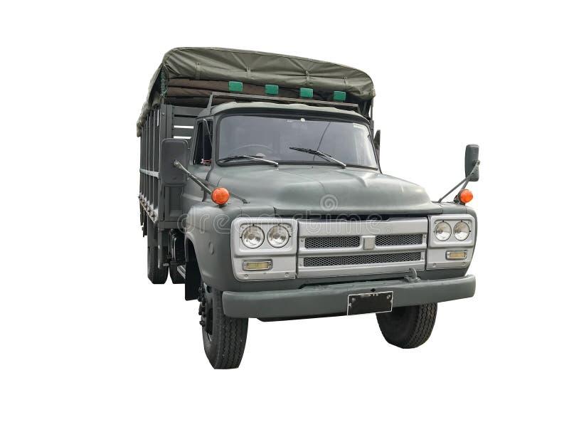 Vieux grand camion d'isolement dans le blanc photos stock