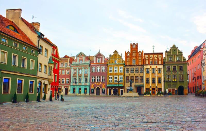 Vieux grand dos de Poznan, Pologne photographie stock