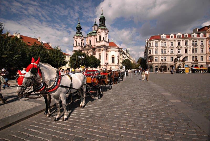 Vieux grand dos de ville de Prague photo stock