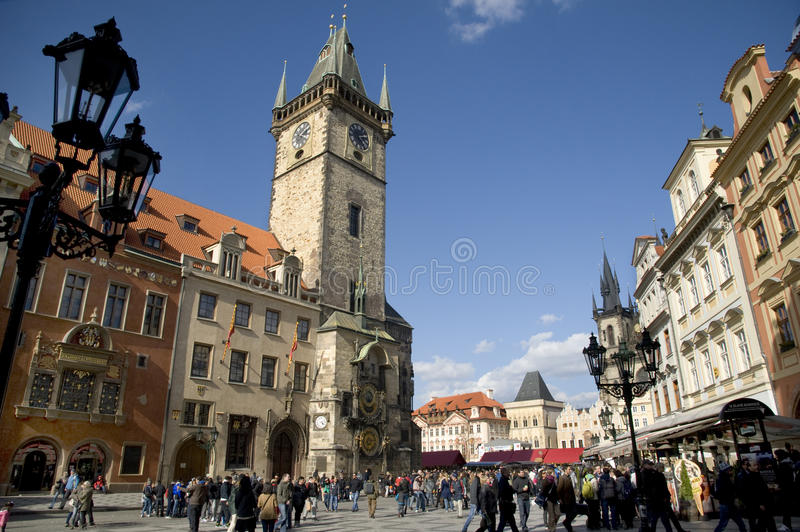 Vieux grand dos, Prague. images stock