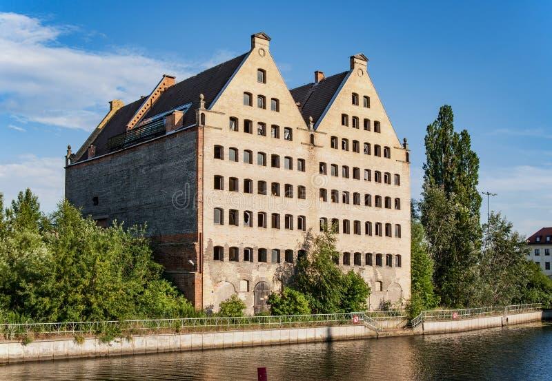 Vieux graneries à Danzig, Pologne image libre de droits