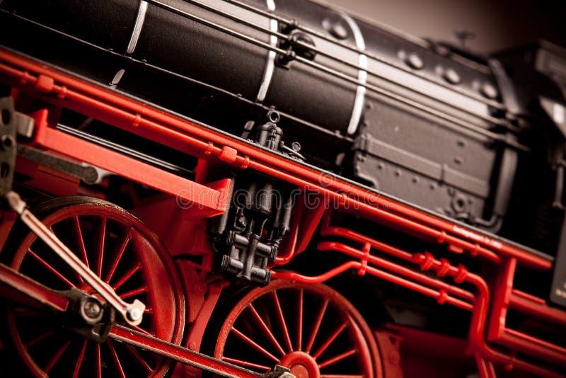 Vieux groupes modèles locomotifs photographie stock
